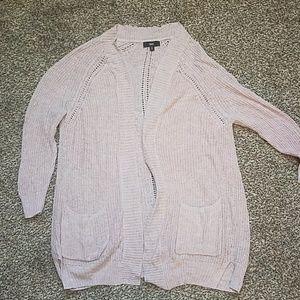 Long light pink sweater- mossimo xl